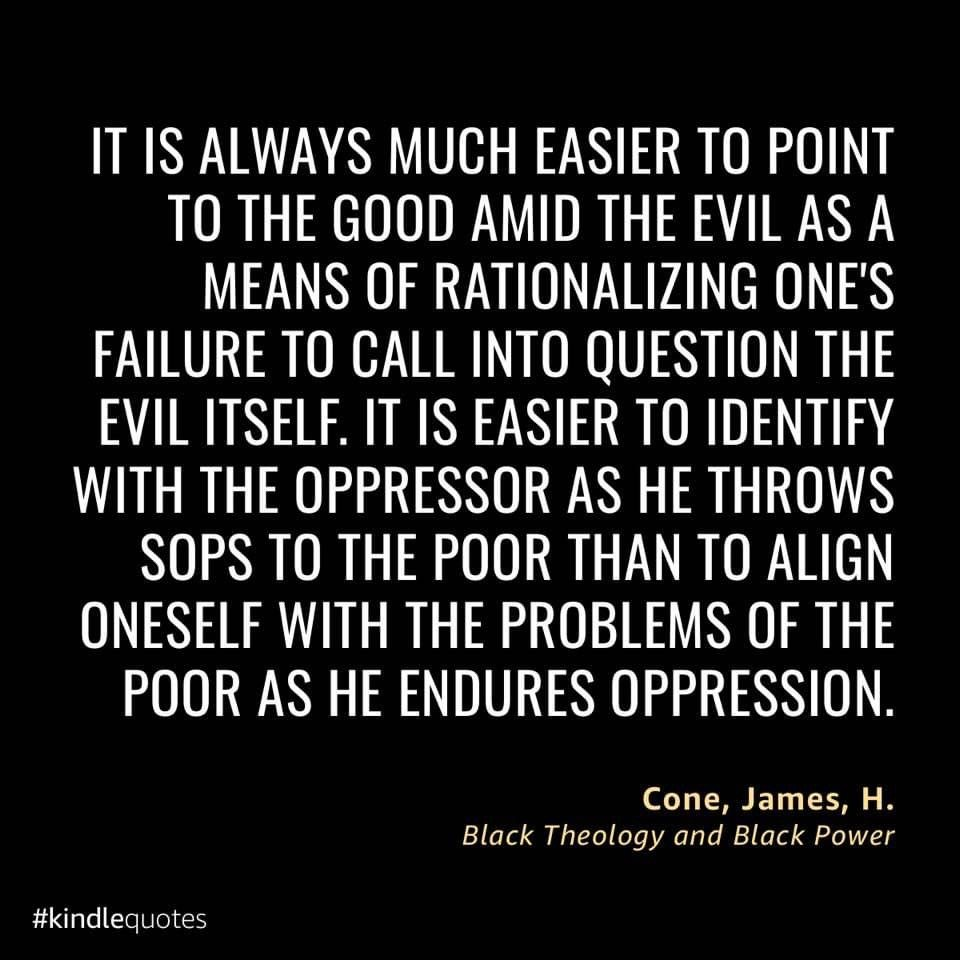 Quote from Black Theology and Black Power